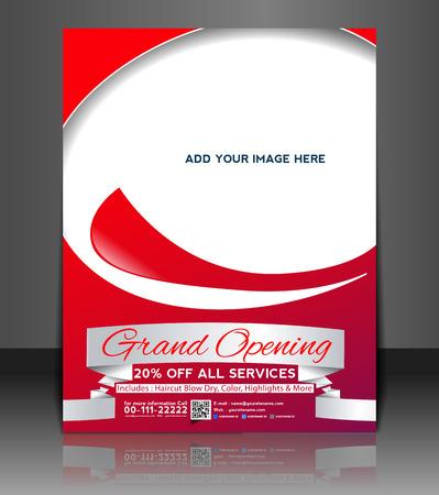 grand design: Grand Opening Flyer & Poster Template Design Illustration