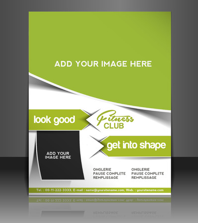 healthy exercise: Fitness Center Flyer & Poster Template Design Illustration