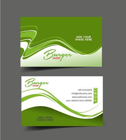 Restaurant Business Card Vector Design Illustration