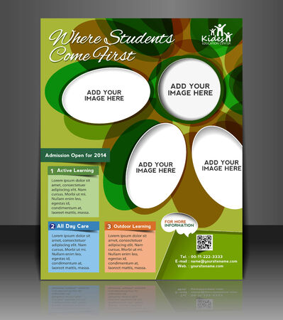 Kids Care Flyer & Poster Template Design Vector