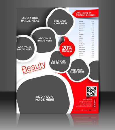 flyer template: Spa Center Flyer & Poster Template Design Illustration