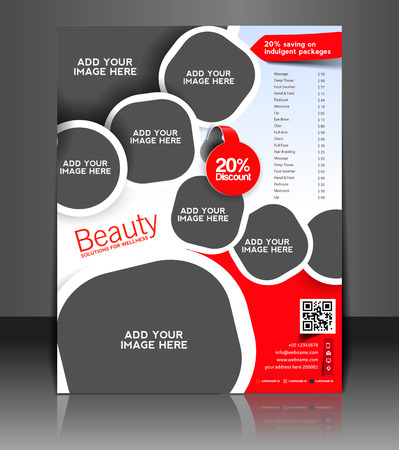 Spa Center Flyer & Poster Template Design Illustration