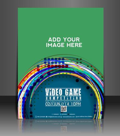 jeu de carte: Jeu Vidéo Flyer et affiche Modèle de conception