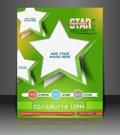 brochure layout: Music Party Flyer & Poster Template Design