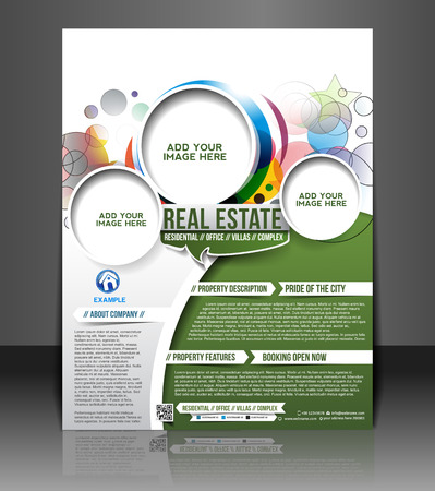 interior layout:  Real Estate Flyer & Poster Template Design