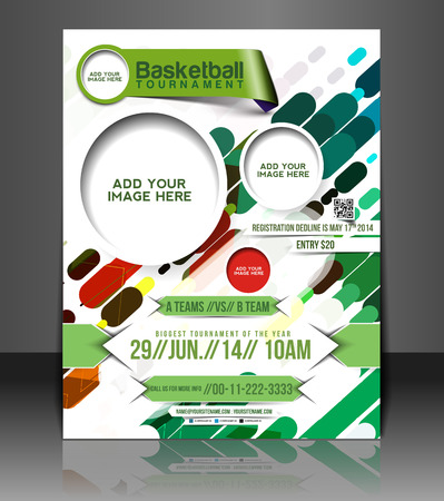 Basketball Flyer & Poster Cover Template Vector