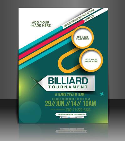 Billiard Tourament Flyer & Poster Template Design