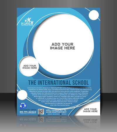 junior: Education Ceneter Flyer & Poster Template Design Illustration