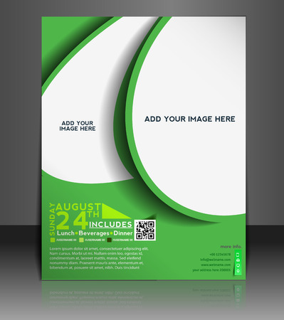 Football Competition Flyer & Poster Template Design Vector