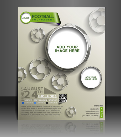Football Competition Flyer & Poster Template Design