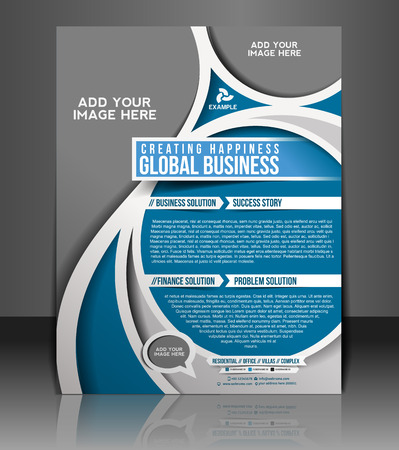 magazine layout: Global Business Flyer & Poster Template Design