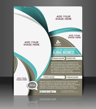 Global Business Flyer & Poster Template Design Zdjęcie Seryjne - 26704172