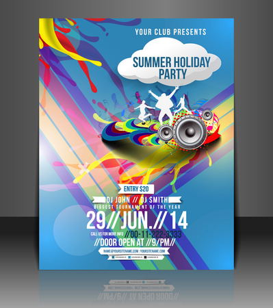 Musik-Party-Flyer & Poster Template Design