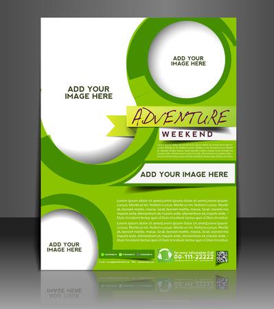 corporate event: Adventurer Flyer & Poster Template Design Illustration