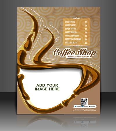 web menu: Coffee House Menu Card & Poster Template Design