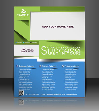 flyer layout: Global Business Flyer & Poster Template Design