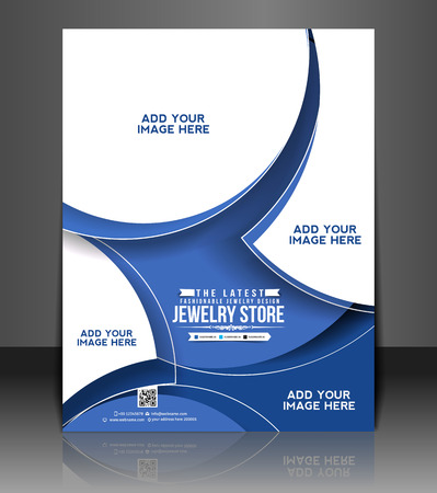 jewelry store: Jewelry Store Flyer & Poster Template Design Illustration