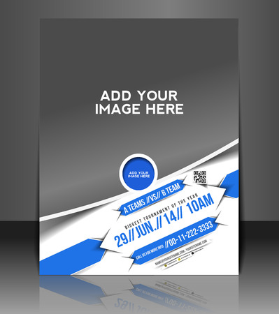 Game Competition Flyer & Poster Template Design Vector