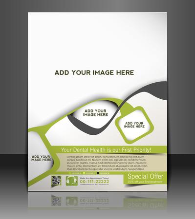 editable invitation: Dental Flyer & Poster Template Design
