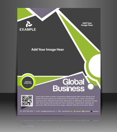 leaflet design: Global Business Flyer & Poster Template Design