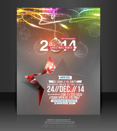Christmas Party Flyer & Poster Template  Vector