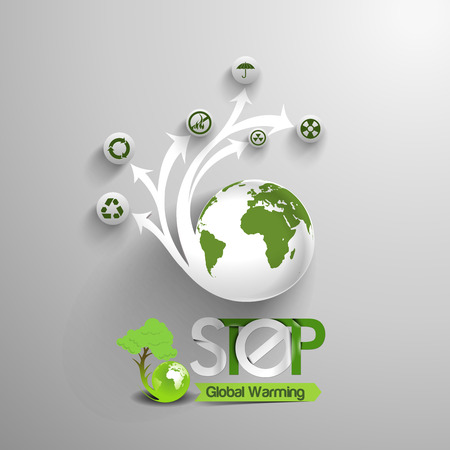Stop Global Warming Template Vector
