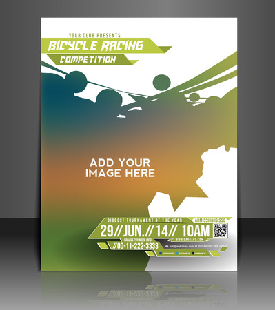 racing bicycle: Bicycle Racing Flyer   Poster Template Design