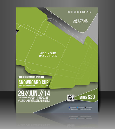 world cup: Snowboard Cup Flyer & Poster Template Design