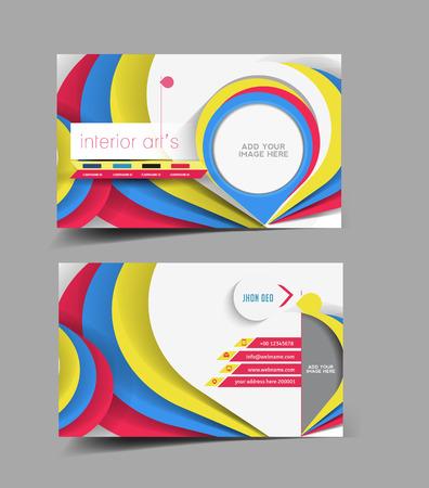 interior designer: Interior Designer Business Card Vector Design
