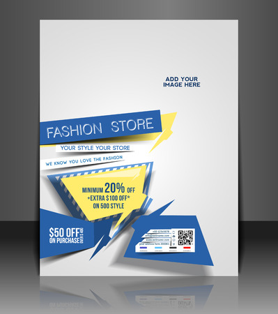 trade show: Fashion store Flyer & Poster Cover Template