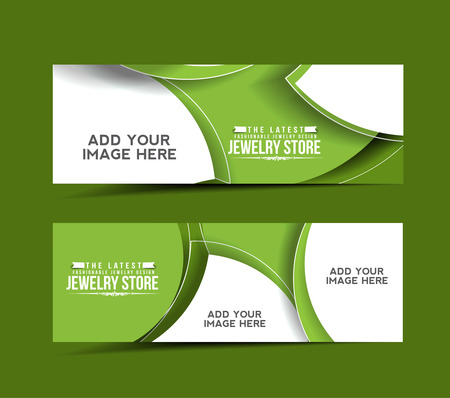 jewelry store: Modern Jewelry Store Design Banner Template  Illustration