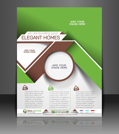 real estate house: Real Estate Agent Flyer & Poster Template