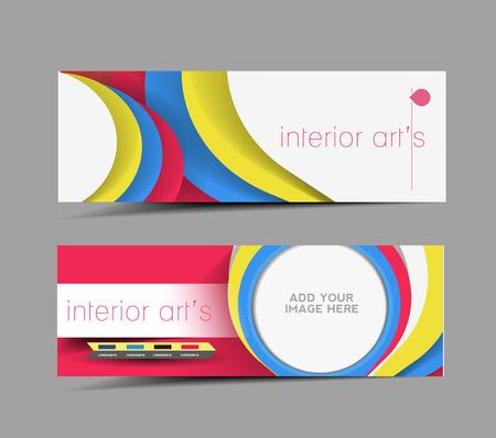 Interior Design Promotion Header Vector Design Stock Vector - 26974848