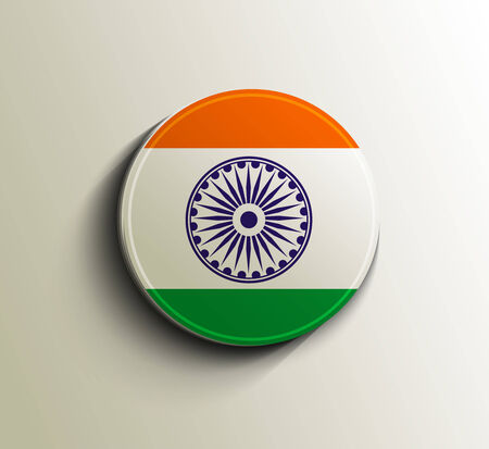 India Flag Icon Design Vector