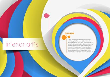 designers interior: Interior Designers Poster Template. Vettoriali