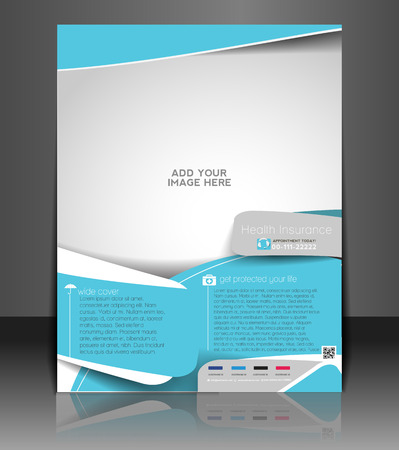 Health Insurance Flyer & Poster Template Design Vector