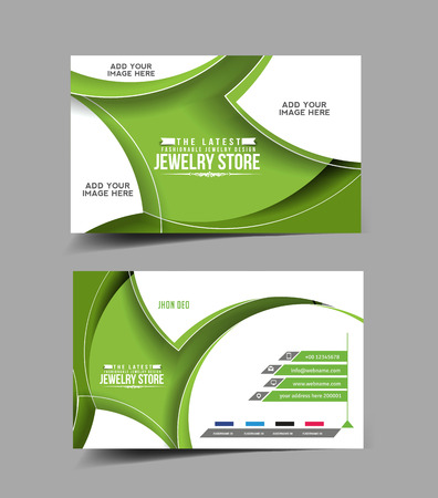 jewelry store: Jewelry Store Business Card Vector Design Illustration