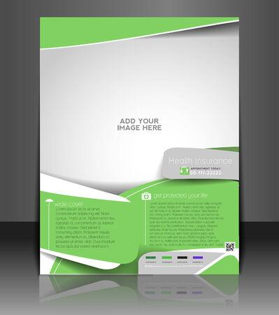 medical bill: Health Insurance Flyer & Poster Template Design