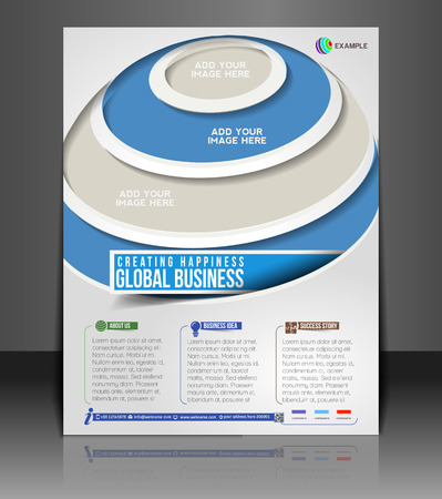 invitation barcode: Global Business Flyer & Poster Template Design