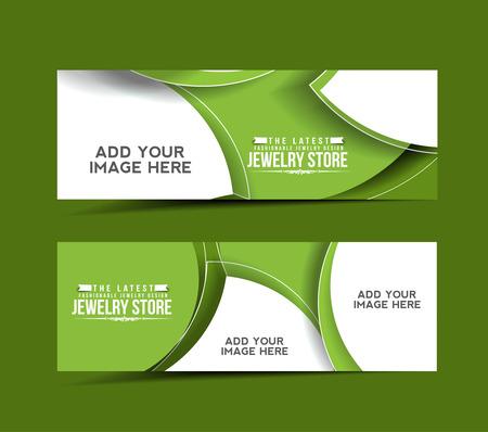 Modern Jewelry Store Design Banner Template Vector Illustration