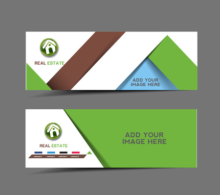 Real State Advertising Header & Banner Design  Vector
