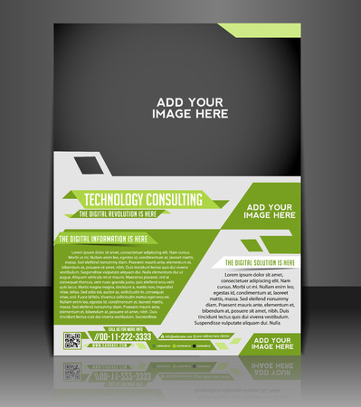 brochure layout: Technology Consulting Flyer & Poster Template Design