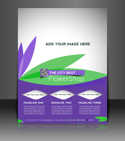 Flower Shop  Flyer & Poster Template Design Vector