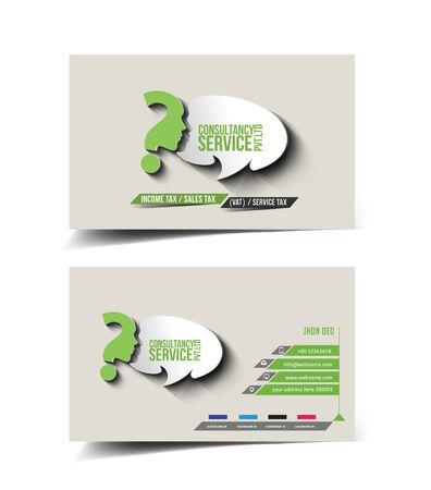 Consultancy Service Business Card Set Design Vector