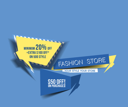 Abstract Discount Banner Design template Vector