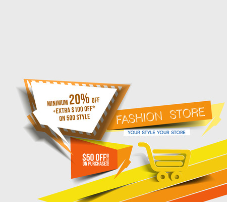 discount poster: Abstract Discount Banner Design template