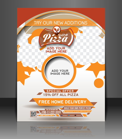 Pizza Shop Flyer & Poster Template Design Vector