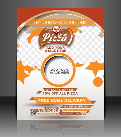 Pizza Shop Flyer & Poster Template Design Vector