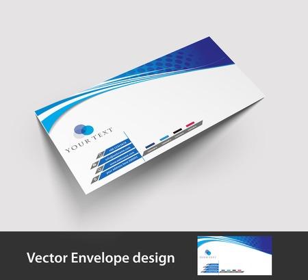 letter head: Paper envelope templates for your project design illustration   Illustration