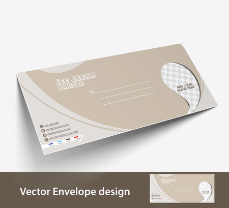 postal card: Paper envelope templates for your project design, vector illustration.
